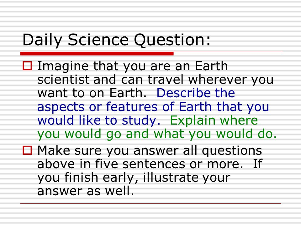 earth science essay questions The earth's atmosphere practice exam questions written by timothy h heaton, professor of earth sciences, university of south dakota click the circle by an answer with the mouse, then click on the submit button to get a response you will be told if your answer is.
