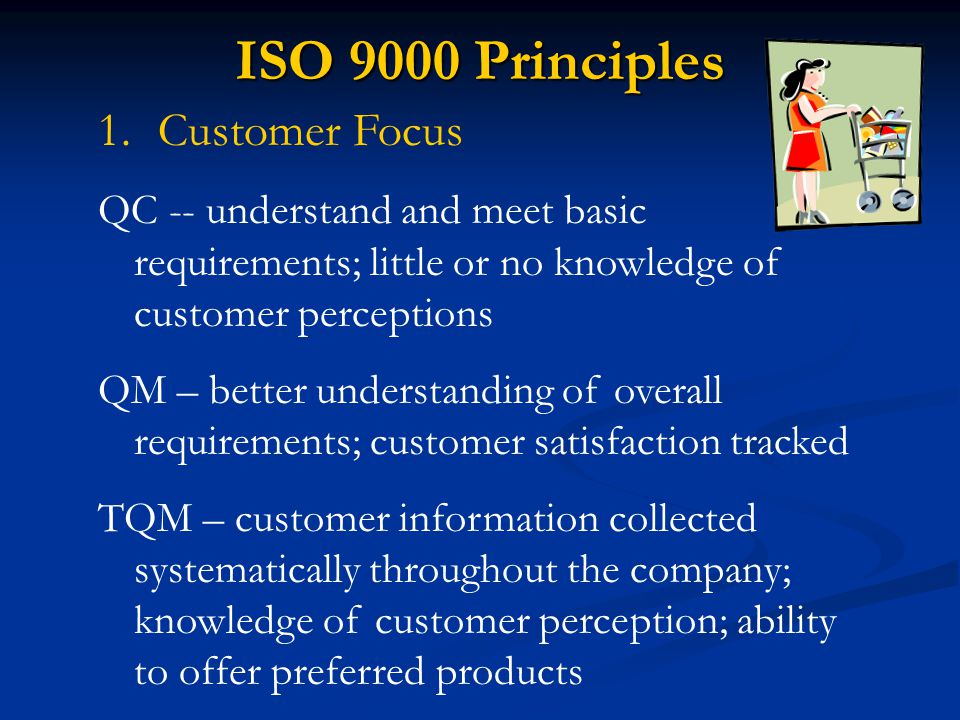 ISO 9000 Principles Customer Focus