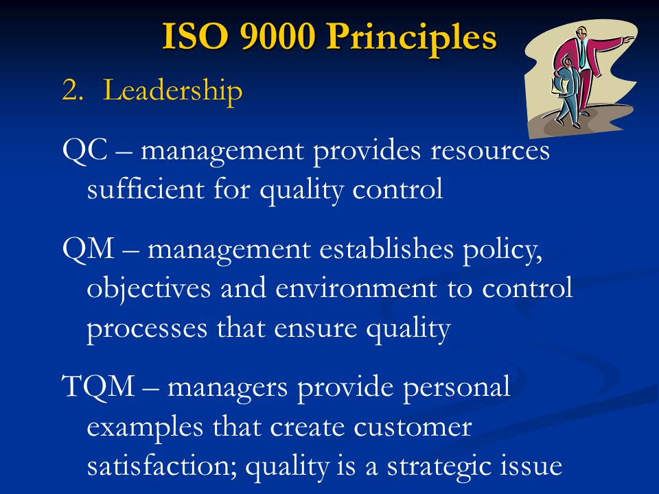 ISO 9000 Principles Leadership