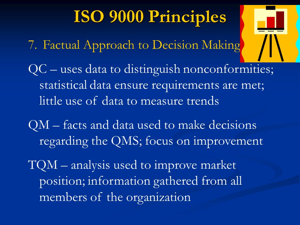ISO 9000 Principles Factual Approach to Decision Making