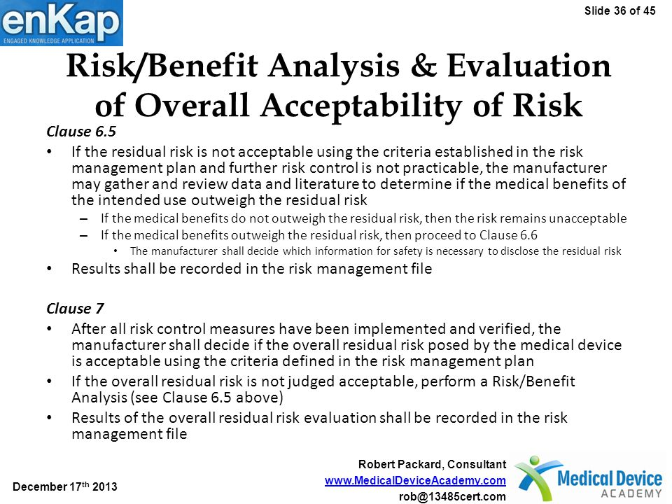 Implementing a Risk Management Process Compliant with ISO 14971:2007 ...