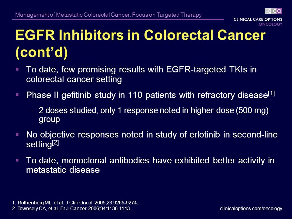 Management Of Metastatic Colorectal Cancer Focus On Targeted Therapy Ppt Video Online Download
