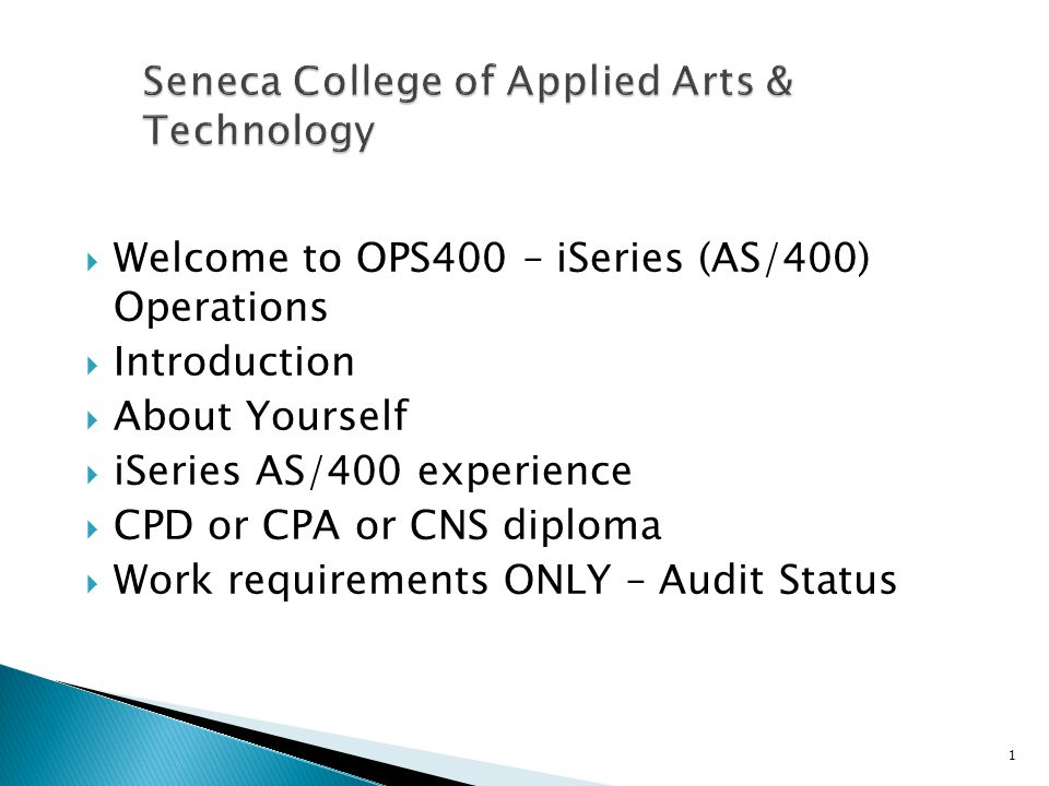 Seneca College Of Applied Arts Technology Ppt Download