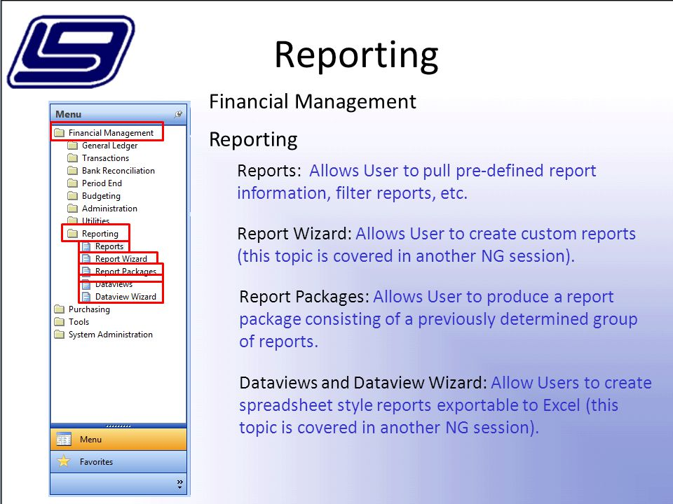 Reporting Financial Management Reporting