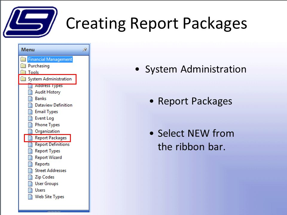 Creating Report Packages