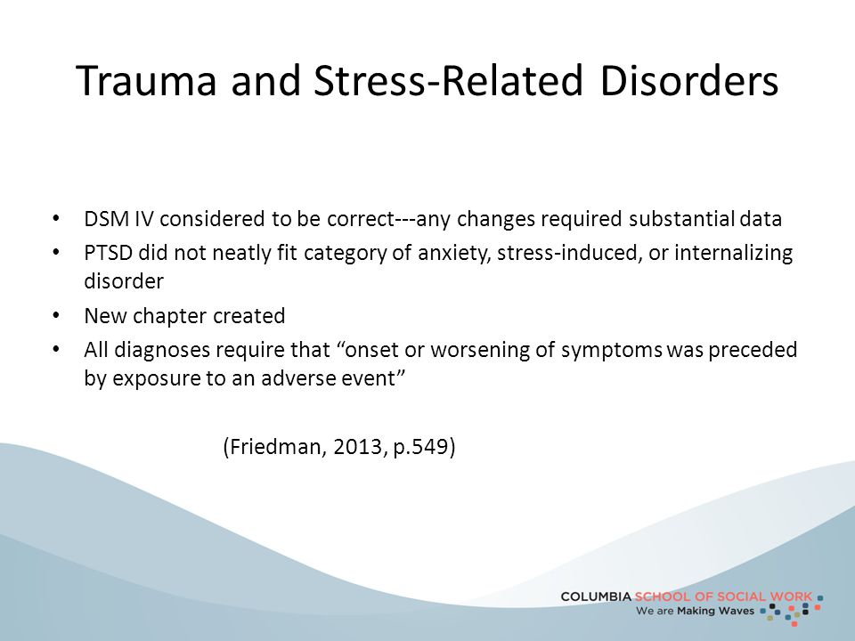 Trauma and Stress-Related Disorders