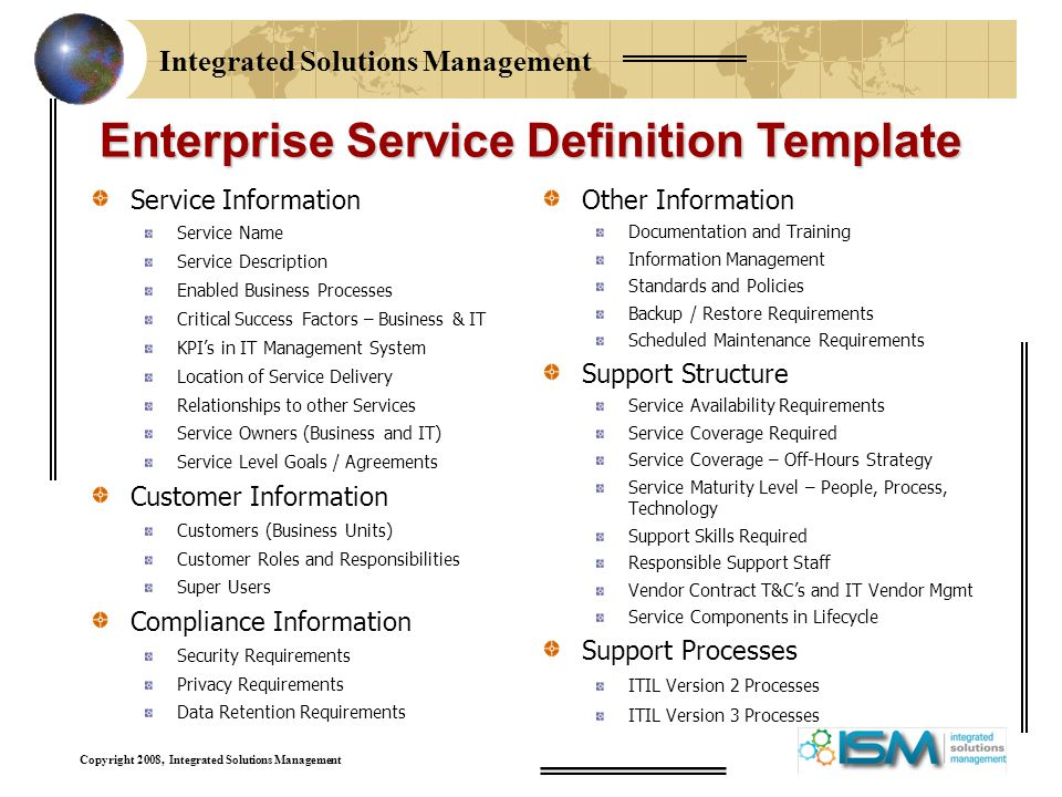 defining services for your it service catalog ppt download