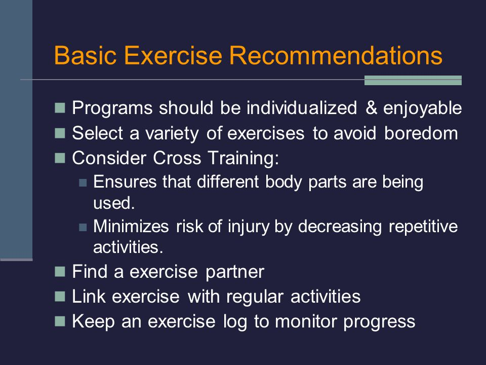 Basic Exercise Recommendations