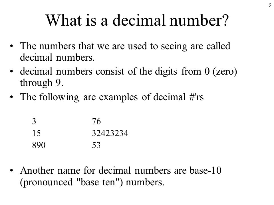 What Is A Decimal Number