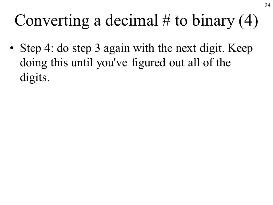 Binary and Decimal Numbers - ppt video online download