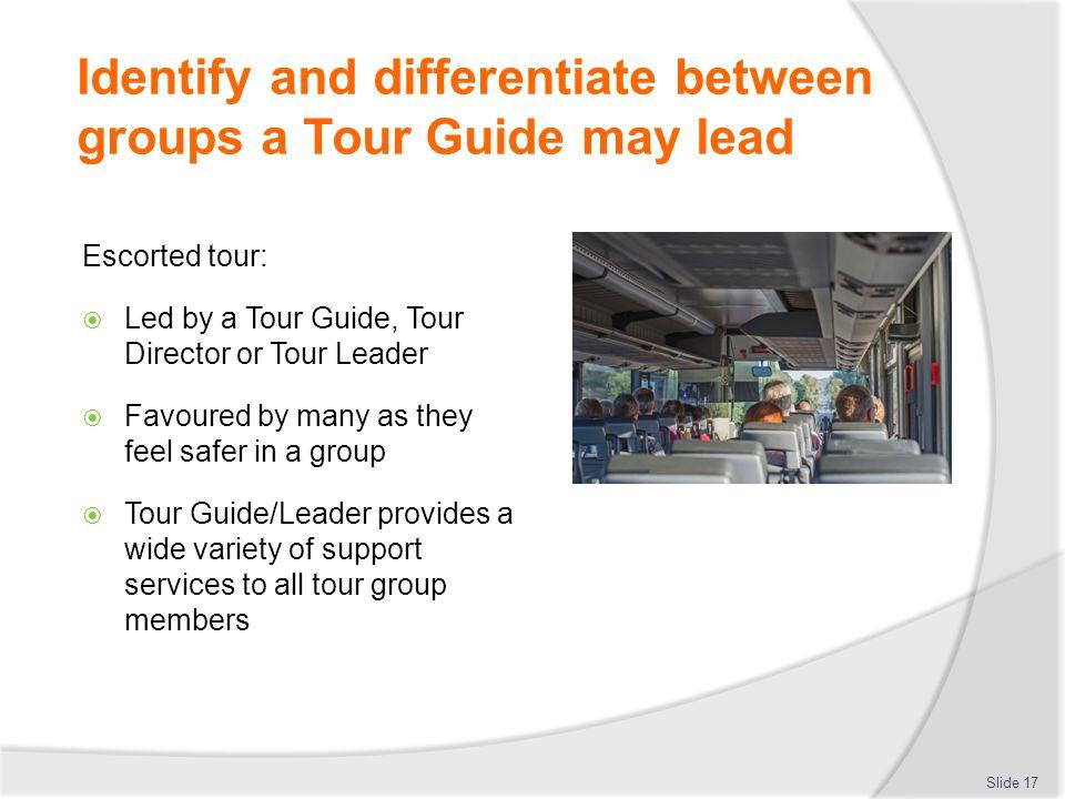 define escorted tour