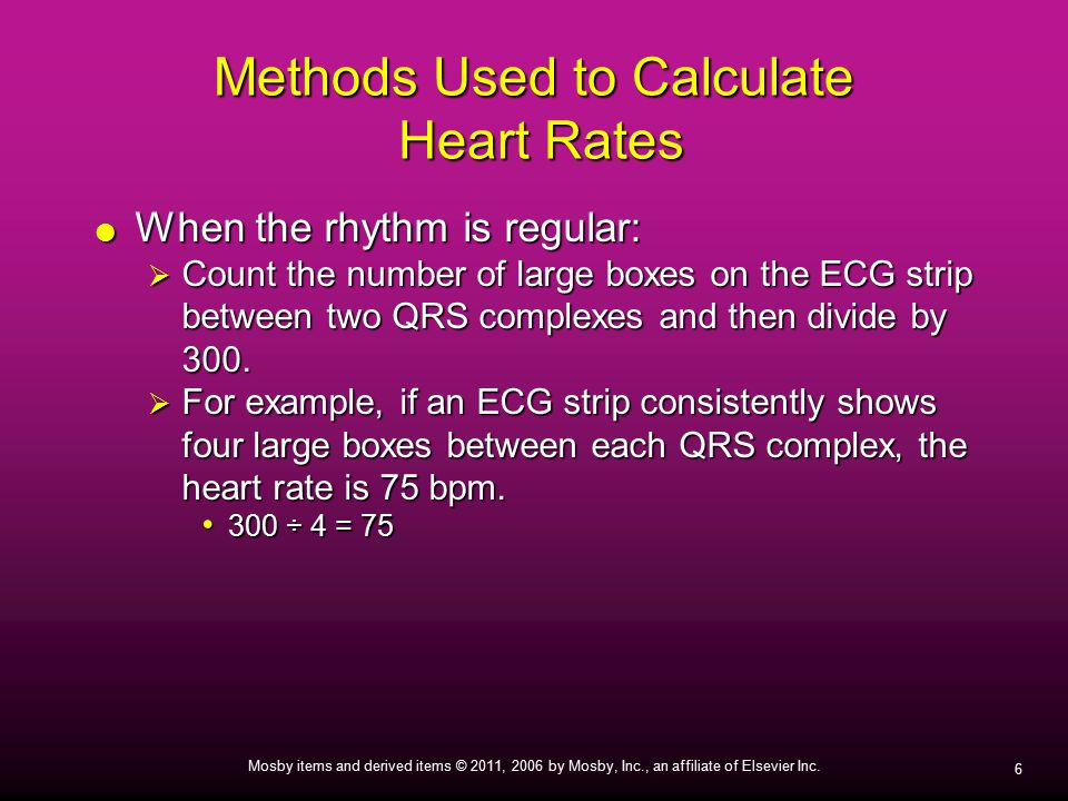 Methods Used to Calculate Heart Rates