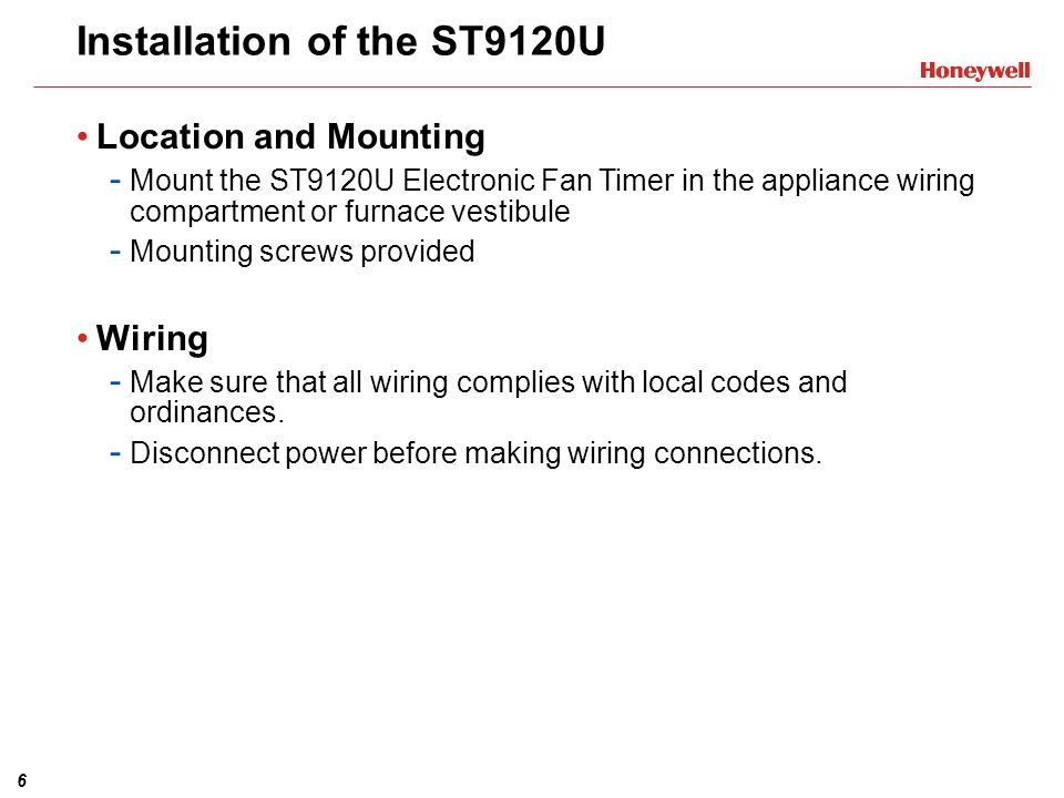 st9120u1003 universal electronic fan timer training module ppt