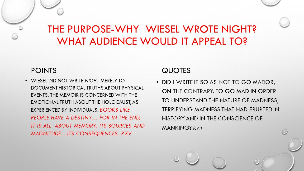 Worksheets Night Elie Wiesel Worksheets night by elie wiesel odqcqved0cayq auoaqbiw1117bih573facrc the purpose why wrote what audience would it appeal to