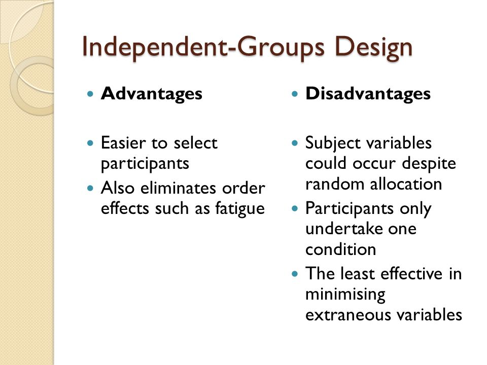 Independent-Groups Design