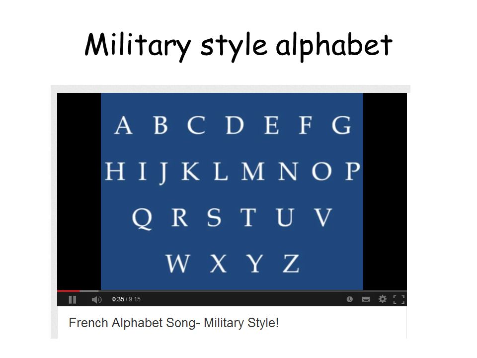 French First Level L'alphabet  - ppt video online download