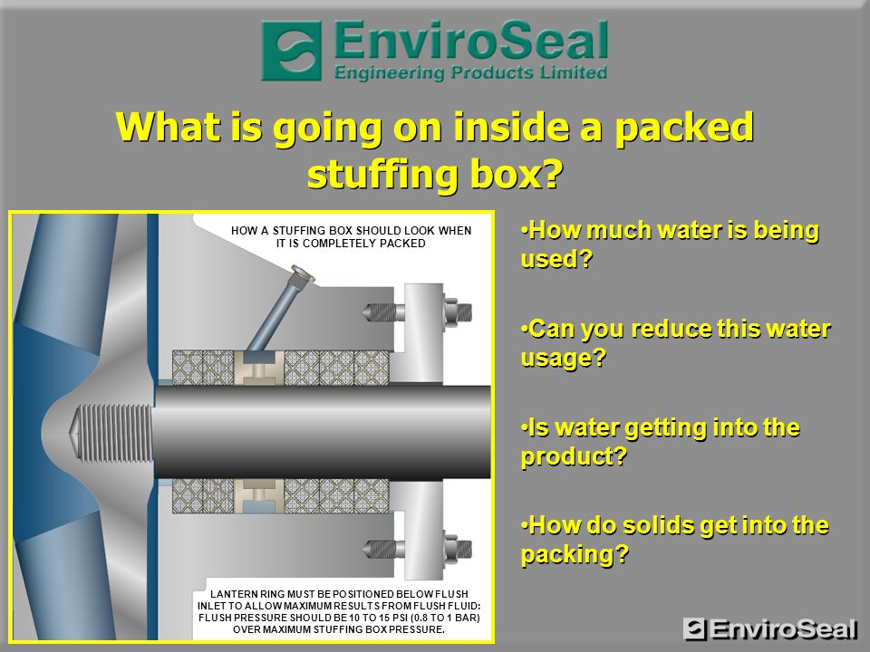 What Is Going On Inside A Packed Stuffing Box Ppt Download