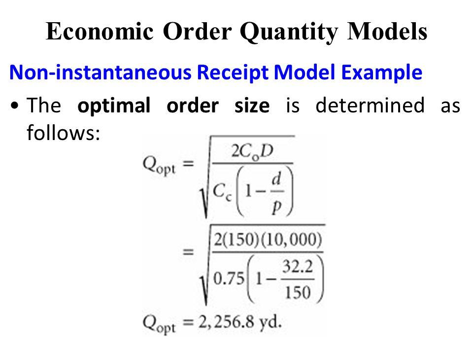 optimal order size