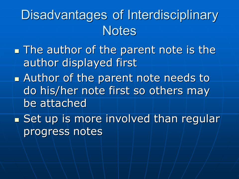 interdisciplinary progress notes