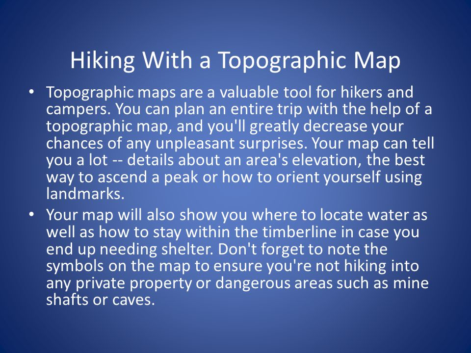 TOPOGRAPHIC MAP Ppt Video Online Download - Topographic hiking maps