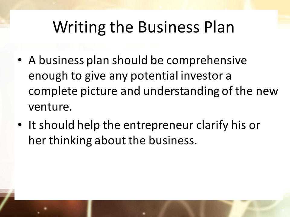 why should an entrepreneur develop a business plan