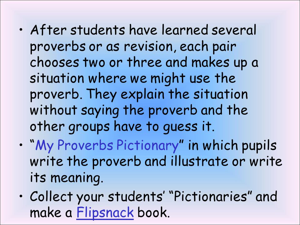 Suggestions for Using Proverbs in the Classroom - ppt video