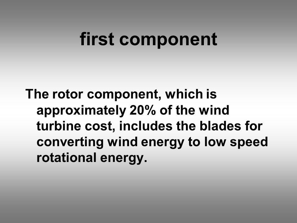 The Wind Turbines  - ppt download
