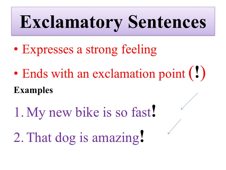 exclamatory sentence examples