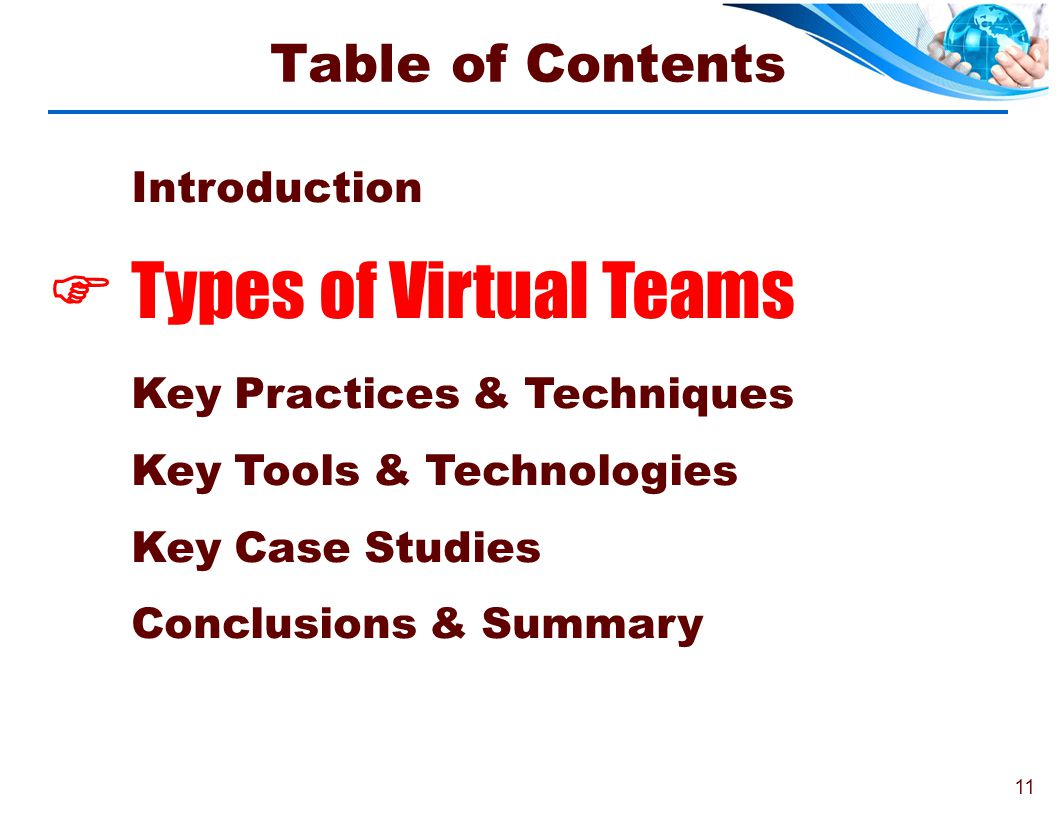 Types of Virtual Teams