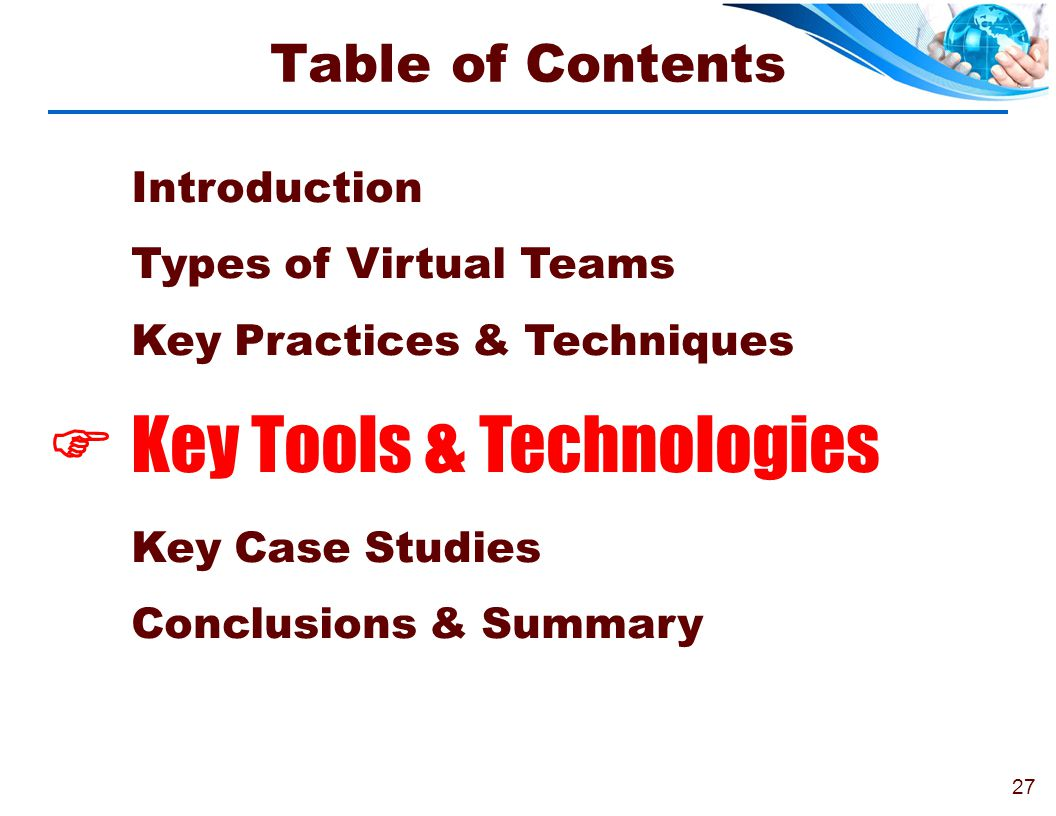  Key Tools & Technologies