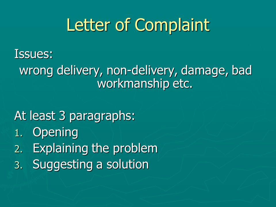 Letters of complaint and apology thank you letters ppt video wrong delivery non delivery damage bad workmanship etc spiritdancerdesigns Image collections