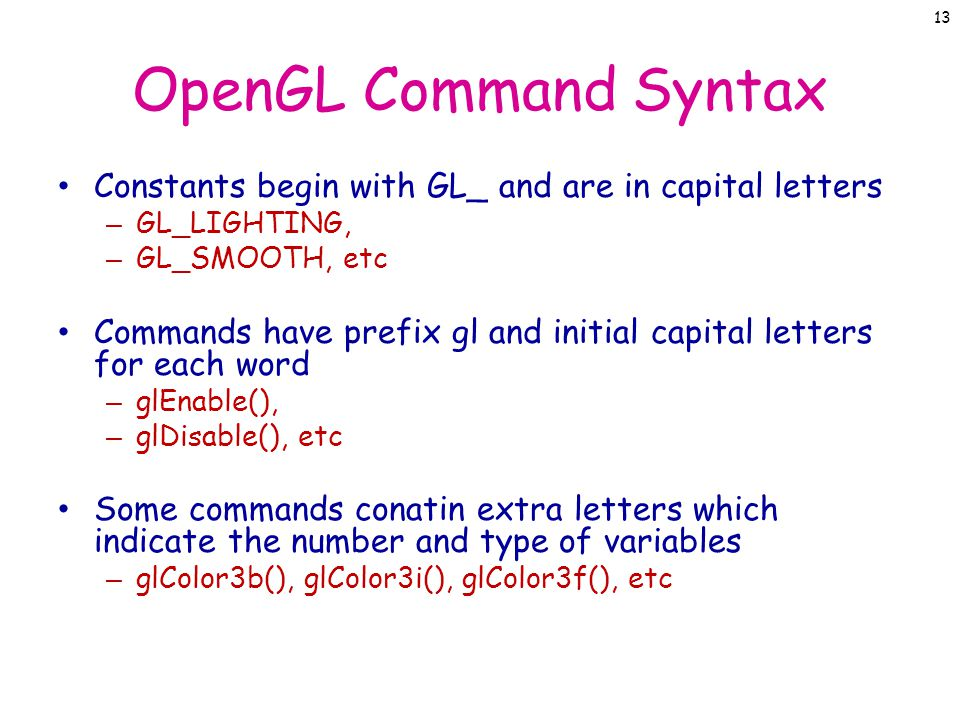 Introduction to C & C++ Lecture 12 – OpenGL JJCAO  - ppt