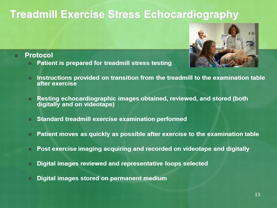 Cardiac exercise stress test
