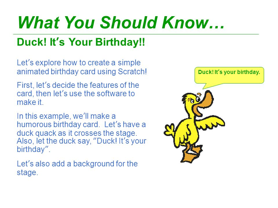 Scratch Animated Greeting Cards Level Ppt Video Online Download