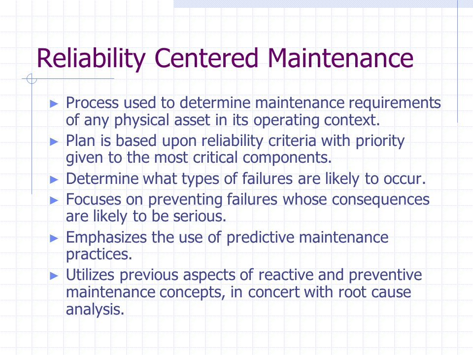 Image result for Reliability Centered Maintenance course objectives""