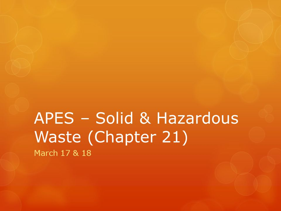 types of hazardous waste apes