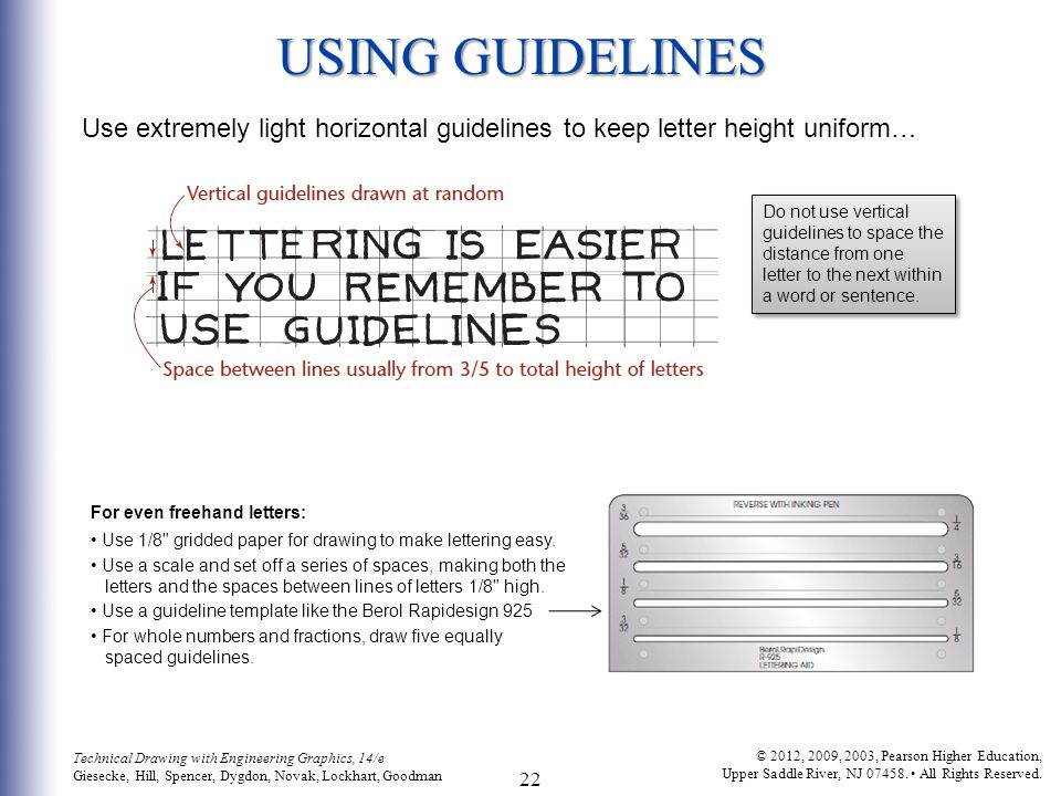 using guidelines use extremely light horizontal guidelines to keep letter height uniform