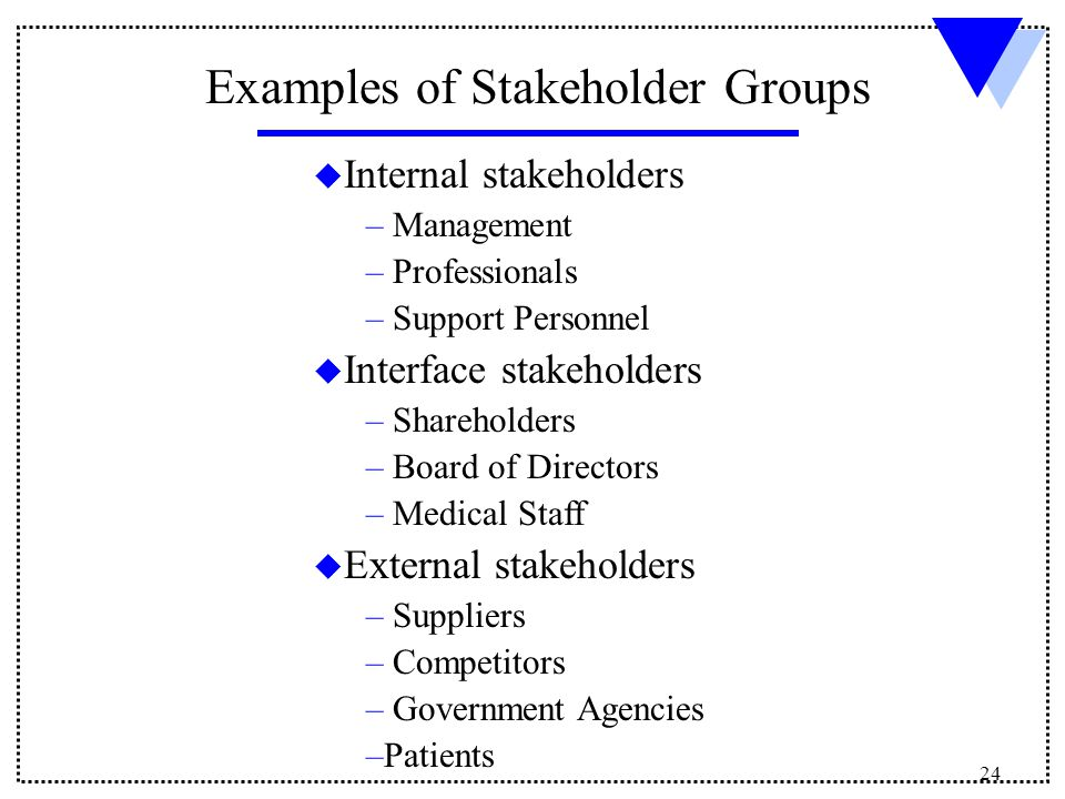 relationship with internal stakeholders
