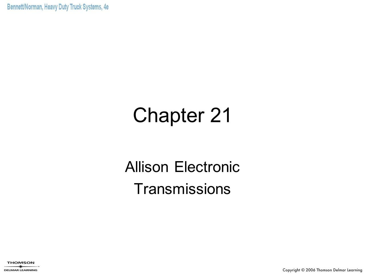 Allison Electronic Transmissions - ppt download