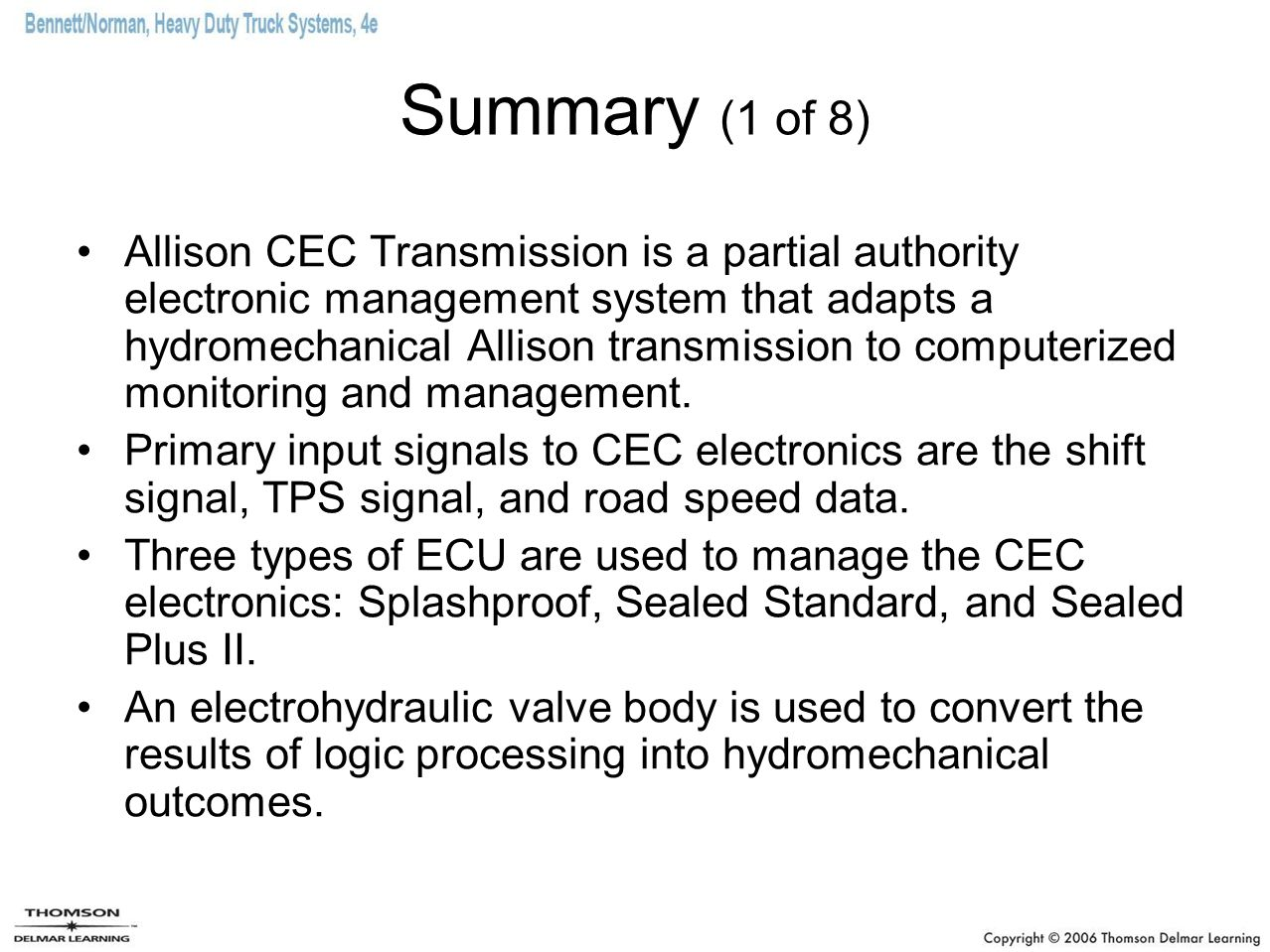 Allison Electronic Transmissions - ppt download