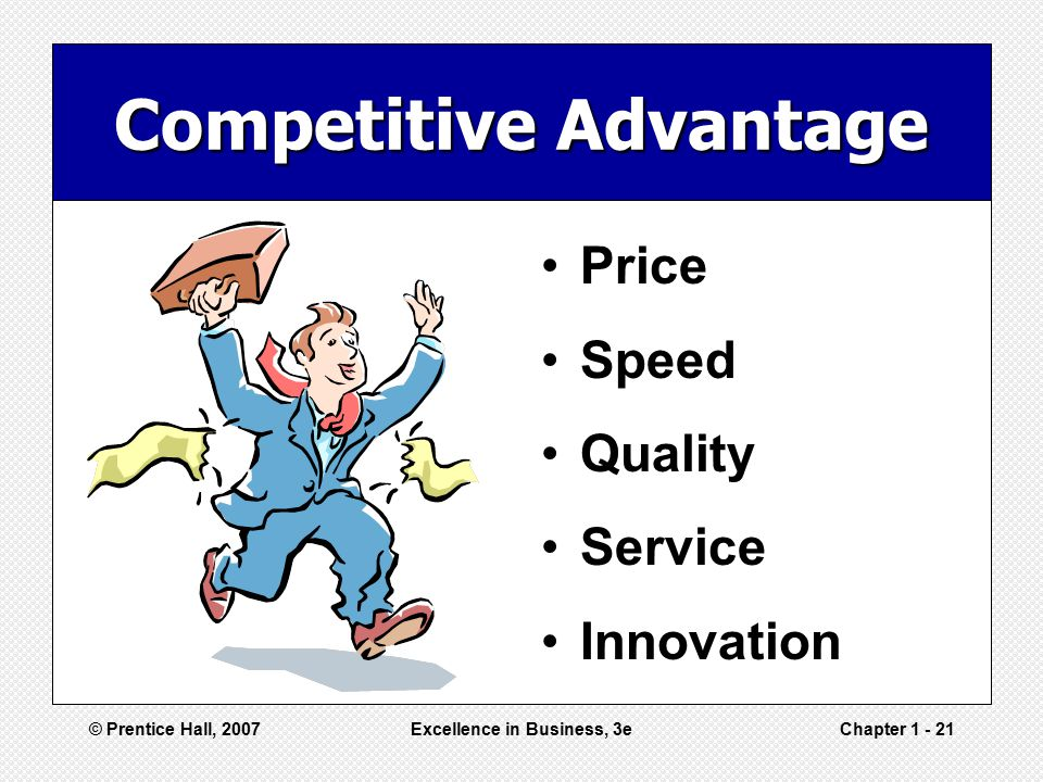 Competitive Advantage Excellence in Business, 3e