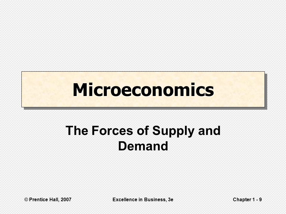 The Forces of Supply and Demand