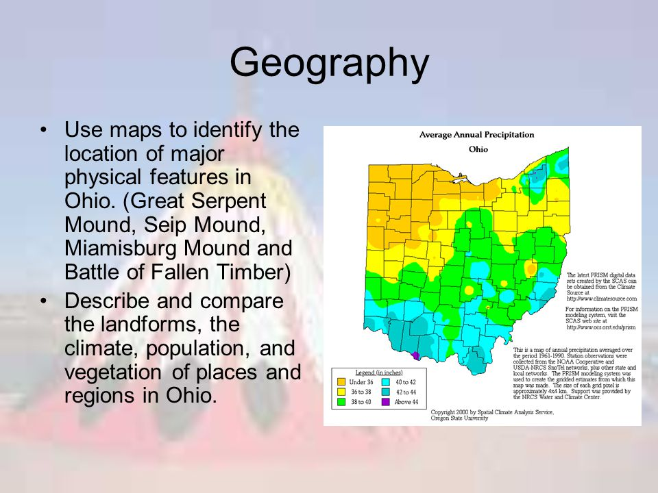 Geography Map Of Ohio.Native Americans In Ohio Ppt Video Online Download