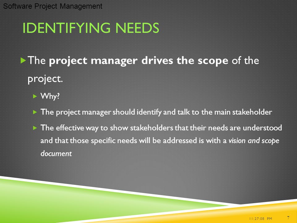 how stakeholders and their needs are identified