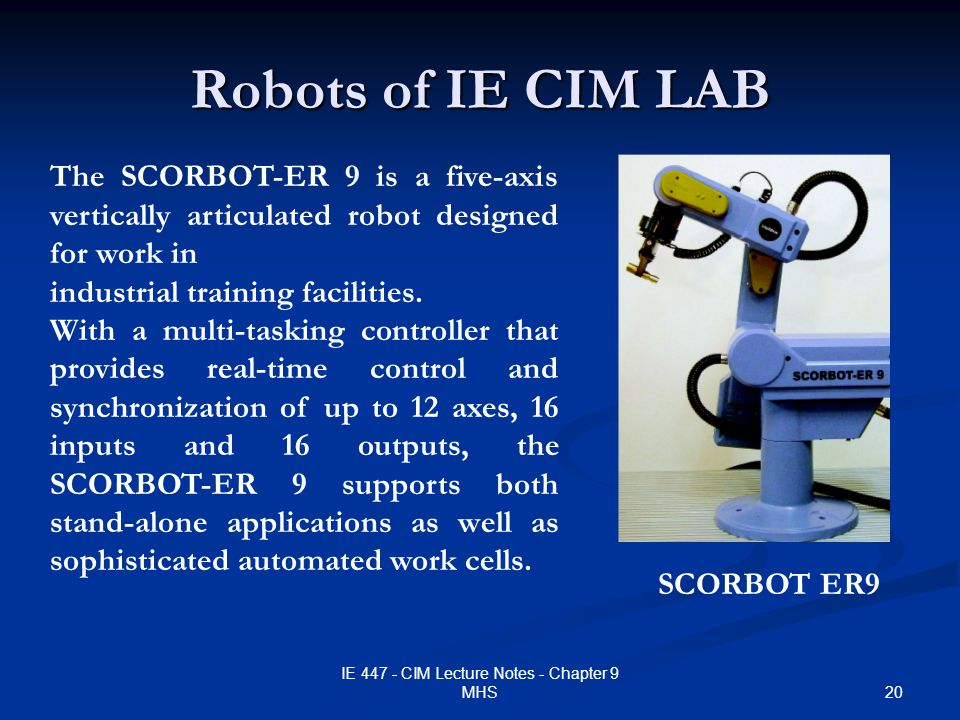 IE 447 COMPUTER INTEGRATED MANUFACTURING - ppt download