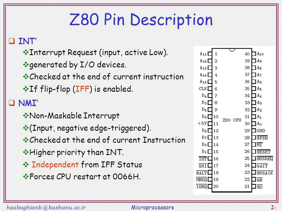 8086 & Z80 µP Lec note ppt video online download