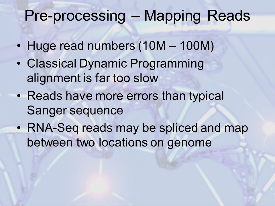 Pre-processing – Mapping Reads