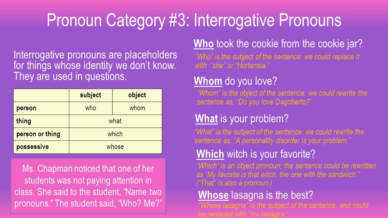 interrogative pronouns examples - 1280×720