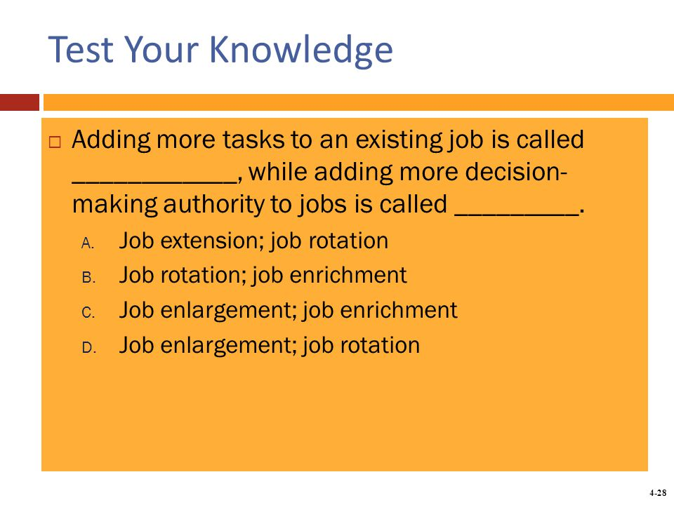 Chapter 4 analyzing work and designing jobs - ppt download
