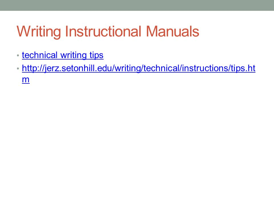 How To Create And Read Instruction Manuals Ppt Download